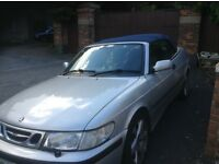 Saab convertible, leather hood and seats. mot until May 2017