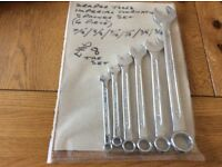 Draper tools imperial combination spanner set (6 piece))