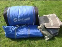 OUTWELL MONTANA 6 MAN TENT WITH FOOTPRINT