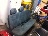 mk 7 transit rear seats and belts