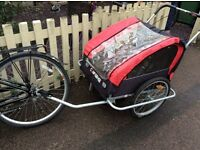 Double bike trailer/ pushchair