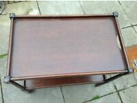 Antique trolley style table