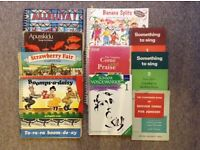 Lovely bundle of school and old-fashioned song and piano books
