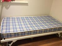 Metal guest bed and mattress (single)