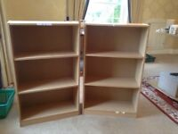 Two office storage shelves or bookcases.