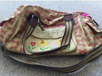 Pink lining changing bag