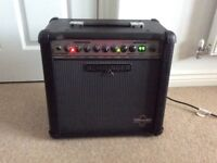 30 Watt Electric Guitar Amp with Foot Switch For Sale. VGC.
