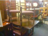 Reduced...oak dining table &6 chairs