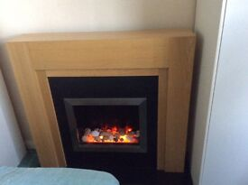 Wood surround Living flame electric fire