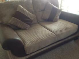 Two x two seater settees.