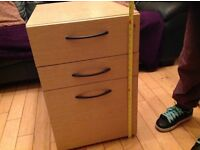 Filing cabinet wood affect small 3 drawer