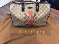 Gucci tattoo hearts and roses Boston bag