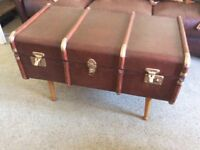 Old Steamer Trunk Coffee Table