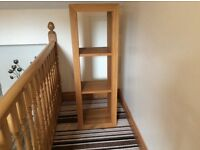 Three tiered Solid oak cubed shelving unit