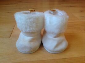 Build-a-Bear Cream Ugg Style Boots