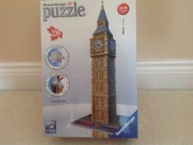 Ravensburger 3D puzzle. Big Ben.