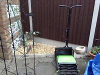Qualcast hand pushed manuel lawn mower all most new