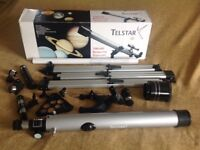 Telstar 700 x 60 Refractor Telescope with Tripod and other accessories all in original box