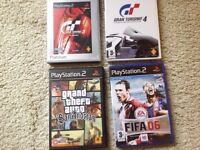 4 preowned Play Station 2 games