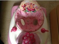 Baby walker by Bright stars in pink