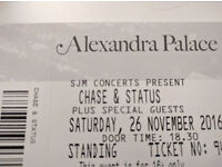2 x tickets for Chase & Status tonight at Alexandra Palace