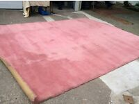 Pink wool carpet for sale