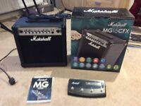 Marshall MG15CFX Carbon Fibre 15W Guitar Amplifier with FX Mint