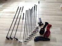 Golf clubs set with trolly