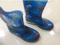 Boys Wellington and Nike sandals