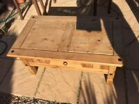 Pine TV stand / Coffee table / magazine table / telephone desk / Occasional table