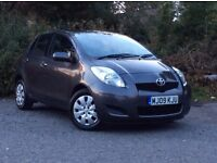 2009 Toyota Yaris 1.33 VVT-i TR Grey 5-door hatch *only 31k mileage/One Lady owner from new, FTSH*