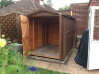 6x8 tonged and grooved shed with double door opening 2opening windows and floor excellent condition