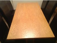Oak table 6 places no chairs 160 x 80cm