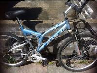 Caprice Excel Duel Suspension bike. This bike has grip shift 21 gears