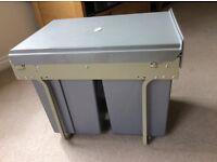 40 litre Kitchen Recycling Waste Bin, pull out, 3 bin.