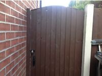"Sturdy garden gate 5'10"" x3' wide"