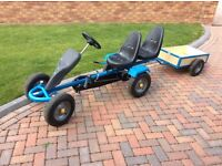 Go Kart with 2 seats and trailer