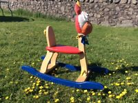 Wooden rocking horse colourful children's toys
