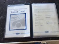 Ford transit owners guide etc