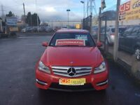 Mercedes C 220 diesel sport automatic 2012 only 50000 fsh ful year mot mint car fully serviced maypx