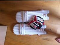 Boys Cricket Pads and Batting Gloves