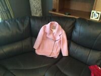 Beautiful pink girls coat fully lined in perfect condition age 6 great price at £8