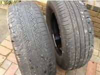 Two 245x65x17 tyres