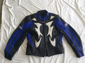 MOTORCYCLE PADDED LEATHER JACKET