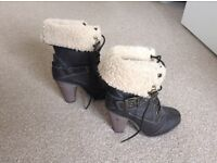 Fur top boots for sale. Size 4. Hardly worn