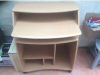 Computer desk wood veneer
