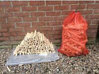 Kindling sticks, firewood, log burner, open fire