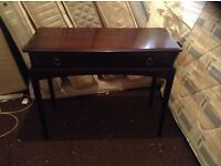Stagg minstrel hall table,superb condition,£95.00
