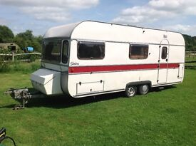 Classic caravan with full length Isabella awning