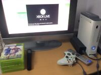 Xbox 360 and Monitor Bundle - 7 Games and one controller - excellent condition